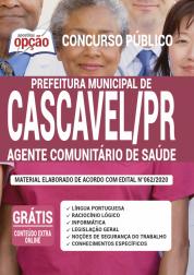 Apostila Prefeitura de Cascavel - PR 2020 - Agente Comunitário de Saúde