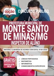 Apostila Prefeitura de Monte Santo de Minas - MG 2020 - Inspetor de Aluno