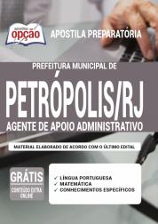 Apostila Prefeitura de Petrópolis - RJ 2020 - Agente de Apoio Administrativo