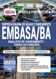Apostila EMBASA-BA 2020 - Analista de Saneamento - Todas as Funções